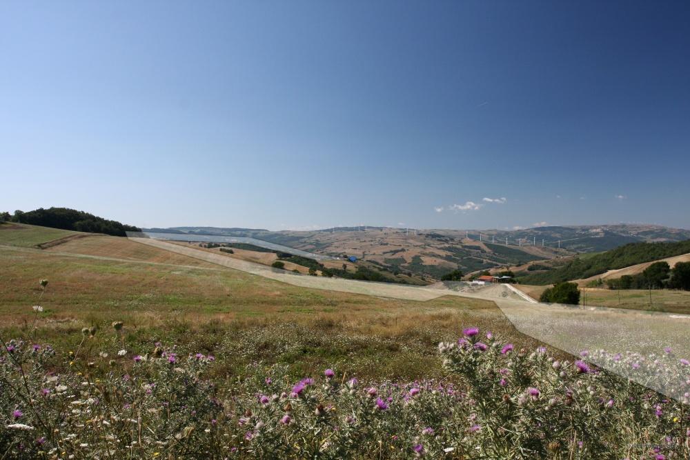 C.da Piano la Macina - Punto di ripresa: N41°24.581' E015°05.289' 769m. s.l.m. direzione 180°. Territorio sito nel Comune di San Bartolomeo in Galdo BN Italy.